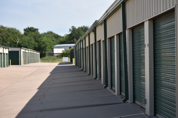 Row of storage units